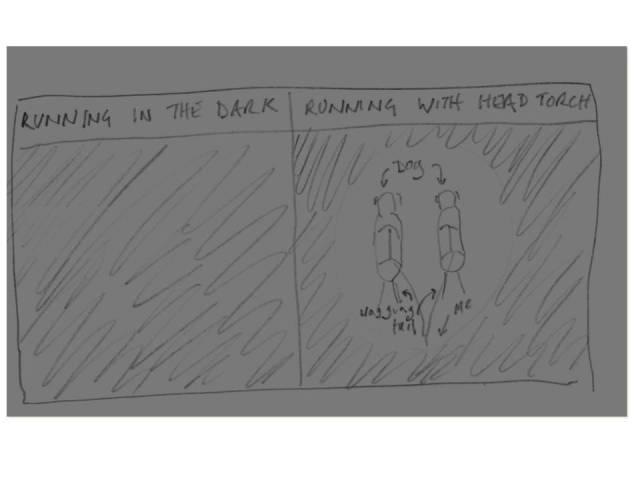 running n the dark